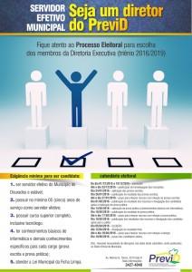 Cartaz de divulgação do calendário eleitoral (triênio 2016/2019)
